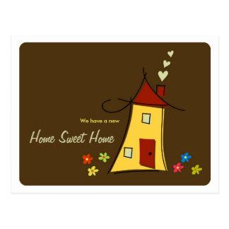 El hogar/nosotros dulces caseros de Brown movió la Postales