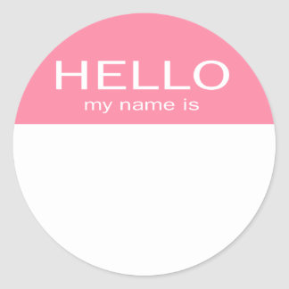 El hola único mi nombre es - rosas bebés pegatina redonda