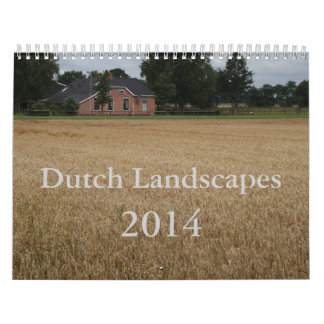 El holandés ajardina 2014 calendarios