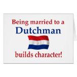 El holandés construye el carácter felicitacion