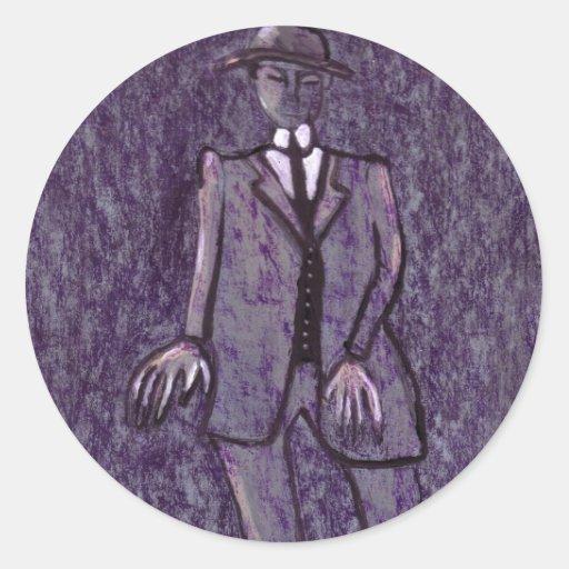 El hombre ansioso etiquetas redondas