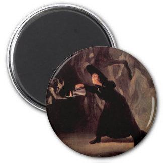 El hombre Bewitched de Francisco Goya 1798 Imán Redondo 5 Cm