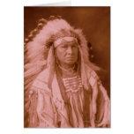 El hombre blanco lo corre - cuervo tarjeta de felicitación