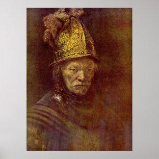 El hombre con el casco de oro poster