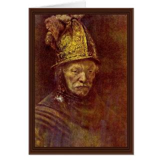 El hombre con el casco de oro tarjetas