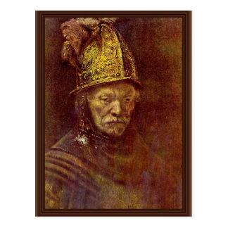 El hombre con el casco de oro postales