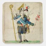 El hombre con seis caricaturas de Heads', de Pegatina Cuadrada