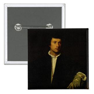 El hombre con un guante, c.1520 pin cuadrado