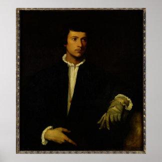 El hombre con un guante, c.1520 póster