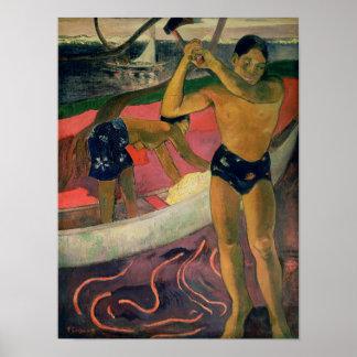 El hombre con un hacha, 1891 póster