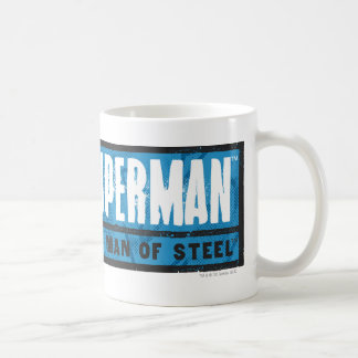 El hombre de acero taza de café