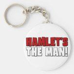 El hombre de Hamlet Llavero Redondo Tipo Pin