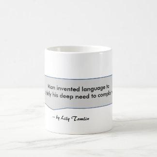 El hombre de la cita de Tomlin del lirio inventa Taza De Café