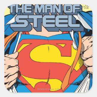 El hombre de la edición del colector de acero #1 pegatina cuadrada