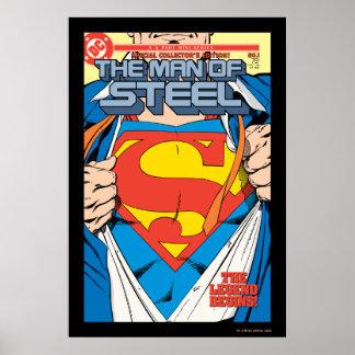 El hombre de la edición del colector de acero #1 póster
