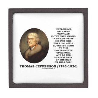 El hombre de la experiencia de Thomas Jefferson Caja De Recuerdo De Calidad