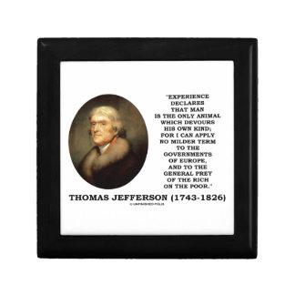 El hombre de la experiencia de Thomas Jefferson Caja De Recuerdo