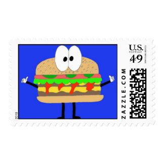 El hombre de la hamburguesa que hace el Fonzie Timbre Postal