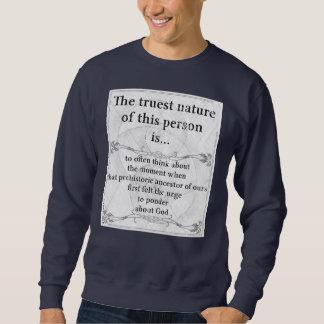 El hombre de la prehistoria de la naturaleza más sudadera con capucha