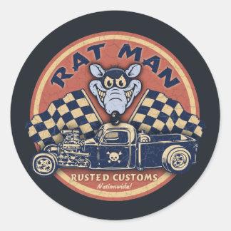 El hombre de la rata aherrumbró las aduanas etiqueta redonda