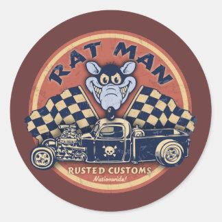 El hombre de la rata aherrumbró las aduanas etiqueta