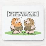 el hombre de las cavernas aprende hablar, da conse alfombrilla de ratones