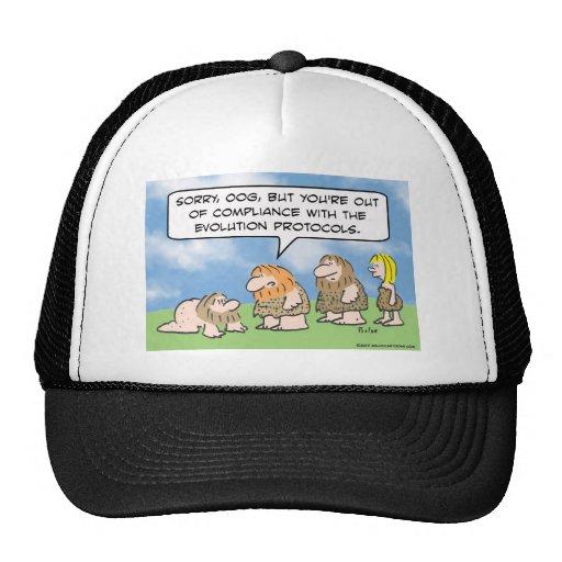 El hombre de las cavernas está fuera de conformida gorras