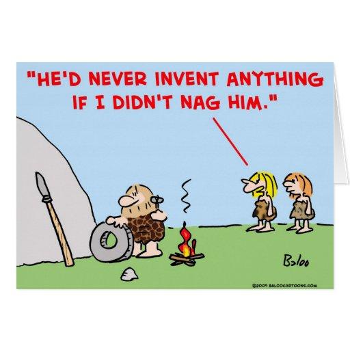 el hombre de las cavernas inventa a la queja felicitaciones