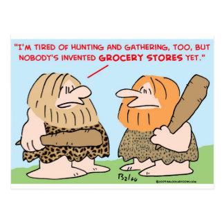 el hombre de las cavernas inventó colmados tarjetas postales