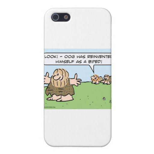 El hombre de las cavernas se reinventa como biped. iPhone 5 carcasa