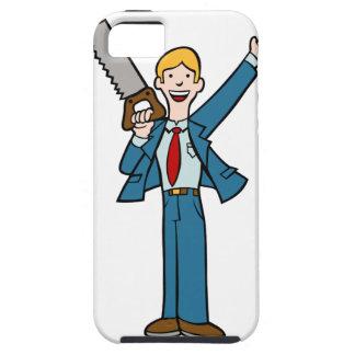 El hombre de negocios con vio iPhone 5 fundas
