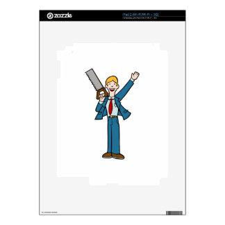 El hombre de negocios con vio iPad 2 calcomanía