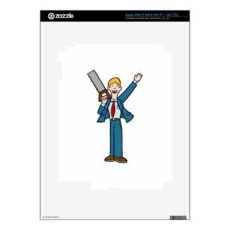 El hombre de negocios con vio pegatinas skins para iPad 3