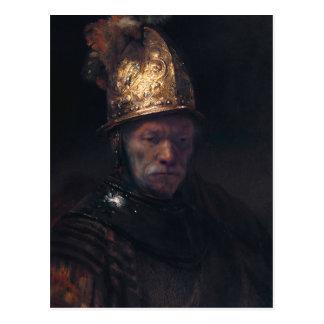 El hombre de Rembrandt en un casco de oro Postales
