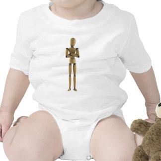 El hombre del maniquí trajes de bebé