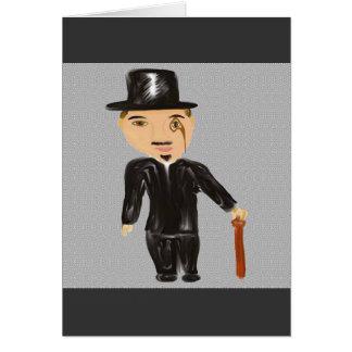 El hombre del monóculo tarjeta de felicitación