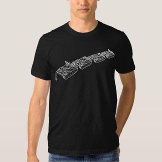 El hombre del tanque desobedece la camiseta playera