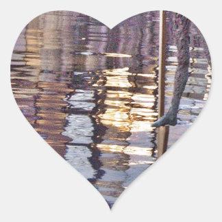 El hombre del zanco pegatina en forma de corazón
