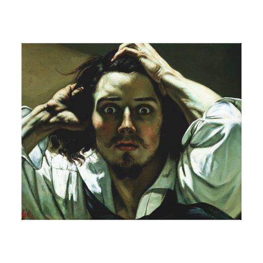 El hombre desesperado - reproducción de la pintura impresiones en lienzo estiradas