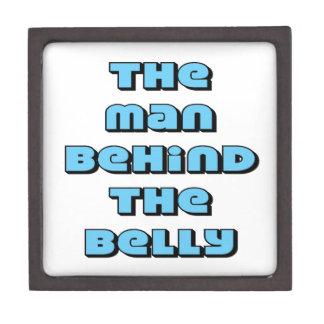 El hombre detrás del Belly Cajas De Regalo De Calidad