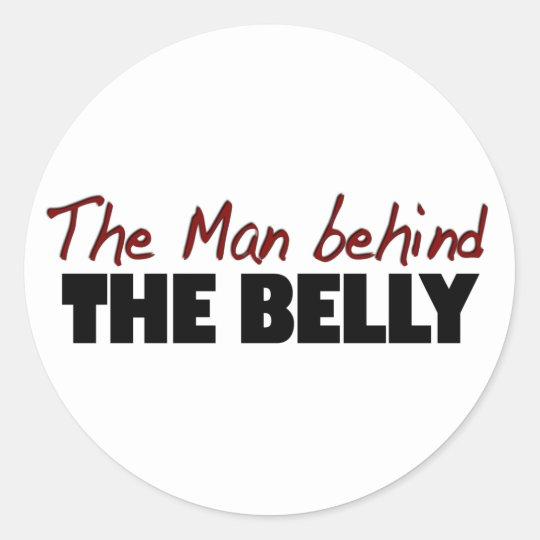 El hombre detrás del Belly Pegatina Redonda