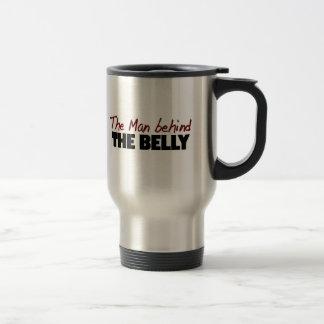 El hombre detrás del Belly Tazas De Café