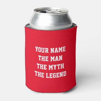 El hombre el mito los neveritas de bebidas de la enfriador de latas
