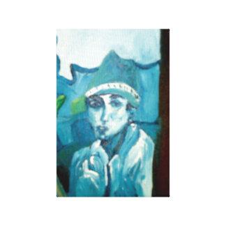 El hombre en el espejo impresión en lienzo estirada