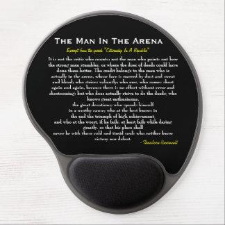 El hombre en el gel Mousepad de la arena Alfombrilla De Ratón Con Gel