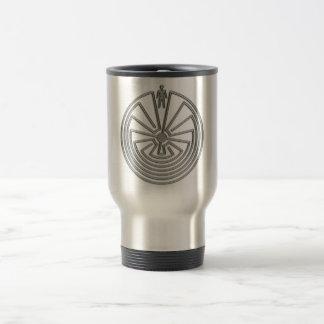 El hombre en el laberinto - plata taza de viaje