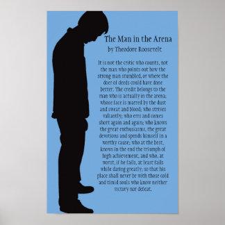 El hombre en la arena 11 x 17 póster