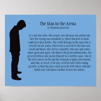 El hombre en la arena 14 X 11 Poster