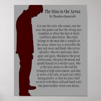El hombre en la arena 8 x 10 póster