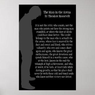 El hombre en la arena póster
